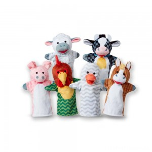 Melissa & Doug Barn Buddies Hand Puppets 6pc Clearance Sale