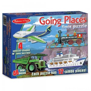 Melissa And Doug Going Places Vehicles Floor Puzzles 48pc Clearance Sale
