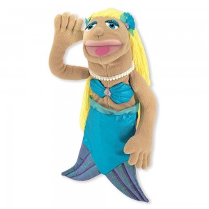 Melissa & Doug Mermaid Puppet With Detachable Wooden Rod for Animated Gestures Clearance Sale
