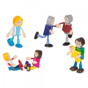 Melissa & Doug Wooden Flexible Figures - Family Clearance Sale