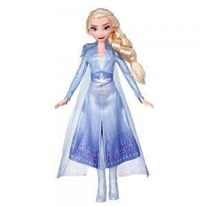 Disney Frozen 2 Elsa Fashion Doll With Long Blonde Hair and Blue Outfit Clearance Sale