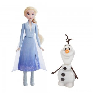 Disney Frozen 2 Talk and Glow Olaf and Elsa Dolls Clearance Sale