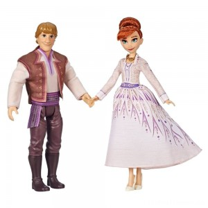 Disney Frozen 2 Anna and Kristoff Fashion Dolls 2pk Clearance Sale