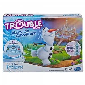 Trouble Disney Frozen Olaf's Ice Adventure Game Clearance Sale