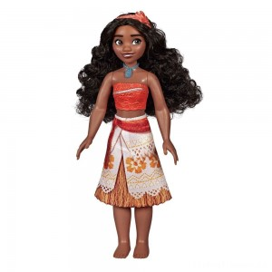 Disney Princess Royal Moana Shimmer Doll Clearance Sale