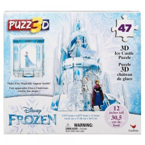 Cardinal Disney Frozen 3D Hologram Ice Castle Puzzle 47pc, Kids Unisex Clearance Sale