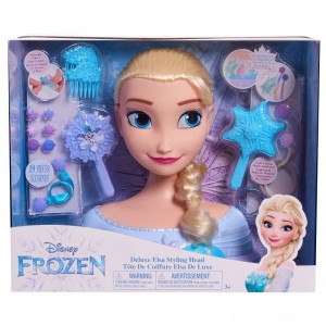 Disney Princess Elsa Deluxe Styling Head Clearance Sale