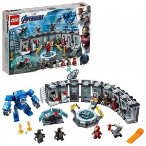 LEGO Marvel Avengers Iron Man Hall of Armor Superhero Mech Model with Tony Stark Action Figure 76125 Clearance Sale