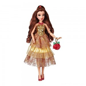 Disney Princess Style Series - Belle Doll in Contemporary Style with Purse & Shoes Clearance Sale