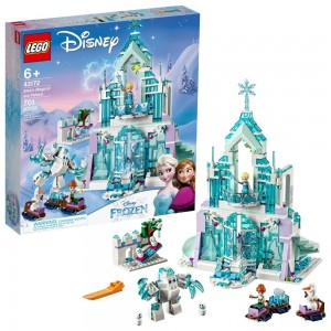 LEGO Disney Princess Elsa's Magical Ice Palace 43172 Toy Castle Building Kit with Mini Dolls Clearance Sale