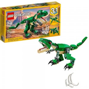 LEGO Creator Mighty Dinosaurs 31058 Build It Yourself Dinosaur Set, Pterodactyl, Triceratops, T Rex Toy Clearance Sale