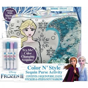 Disney Frozen 2 Color and Style Sequin Purse Activity Set Clearance Sale