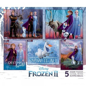 Ceaco Disney Frozen 2 5pk Puzzles 2300pc, Adult Unisex Clearance Sale