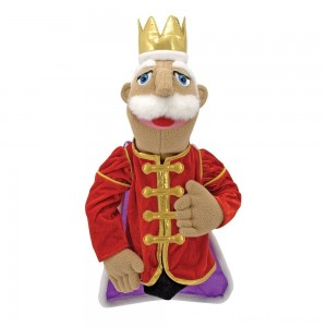 Melissa & Doug King Puppet With Detachable Wooden Rod for Animated Gestures Clearance Sale