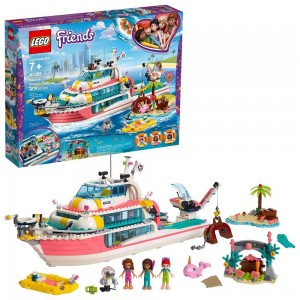 LEGO Friends Rescue Mission Boat 41381 Building Kit Sea Creatures for Creative Play 908pc Clearance Sale