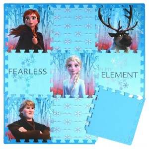 Disney Frozen 2 9pc Tile Foam Interlocking Fitness Mats Clearance Sale