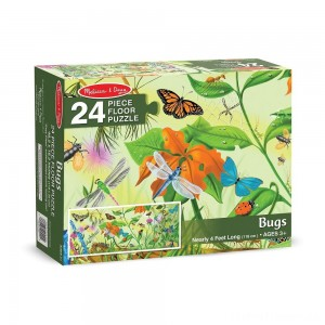 Melissa And Doug Bugs Jumbo Floor Puzzle 24pc Clearance Sale