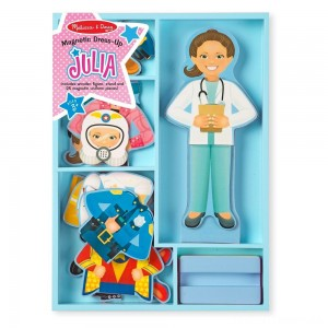 Melissa & Doug Julia Magnetic Dress-Up Wooden Doll Pretend Play Set (25+pc) Clearance Sale