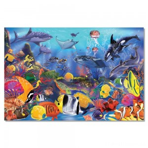Melissa And Doug Underwater Ocean Floor Puzzle 48pc Clearance Sale