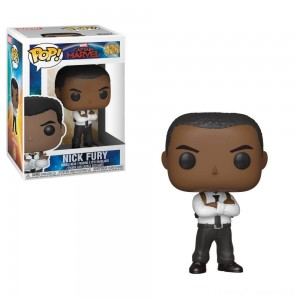 Funko POP! Marvel: Captain Marvel - Nick Fury Clearance Sale