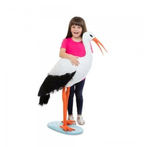 Melissa & Doug Stork, stuffed animals Clearance Sale