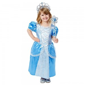 Melissa & Doug Royal Princess Role Play Costume Set (3pc) - Blue Gown, Tiara, Wand, Women's, Size: Small Clearance Sale