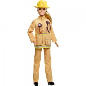 Barbie Careers 60th Anniversary Firefighter Doll Clearance Sale