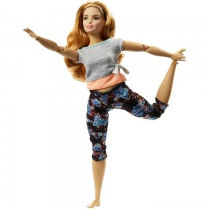 Barbie Made To Move Doll - Floral Peach Clearance Sale