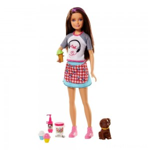 Barbie Sisters Skipper Doll and Ice Cream Accessory Set Clearance Sale