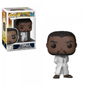 Funko POP! Marvel: Black Panther - T'Challa in White Robe Clearance Sale