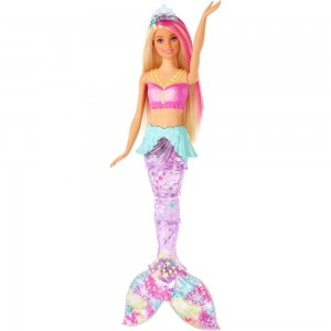Barbie Dreamtopia Sparkle Lights Mermaid Clearance Sale