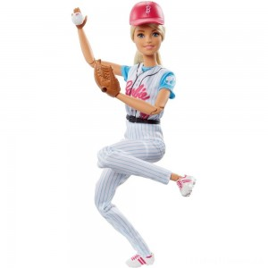 Barbie Made to Move Baseball Player Doll Clearance Sale