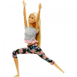 Barbie Made To Move Yoga Doll - Floral Pink Clearance Sale