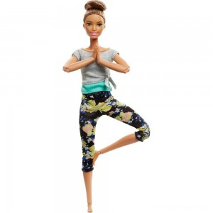 Barbie Made To Move Yoga Doll - Floral Blue Clearance Sale