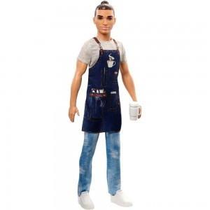 Barbie Ken Career Barista Doll Clearance Sale