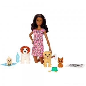 Barbie Doggy Daycare Nikki Doll & Pet Clearance Sale