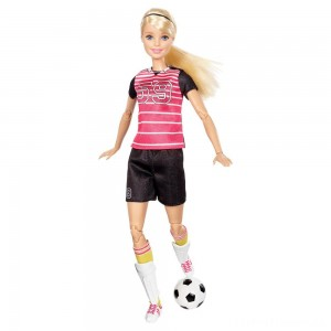 Barbie Made To Move Soccer Player Doll Clearance Sale