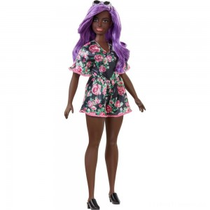 Barbie Fashionistas Doll #125 Black Floral Dress Clearance Sale