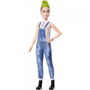 Barbie Fashionistas Doll #124 Green Mohawk Clearance Sale