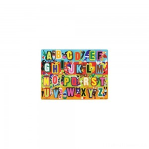 Melissa & Doug Jumbo ABC Wooden Chunky Puzzle (26pc) Clearance Sale
