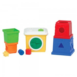 Melissa & Doug K's Kids Stacking Blocks Set With Sorting Shapes Clearance Sale