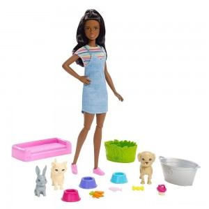 Barbie Play 'n' Wash Pets Nikki Doll and Playset Clearance Sale