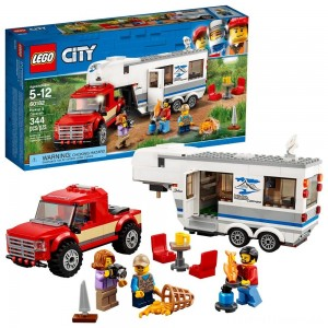 LEGO City Great Vehicles Pickup & Caravan 60182 Clearance Sale