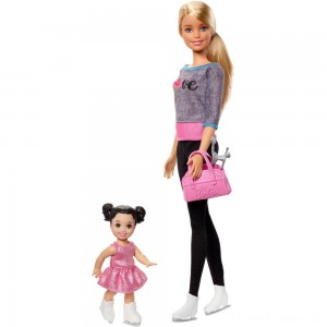 Barbie Ice-skating Coach Dolls & Playset Clearance Sale