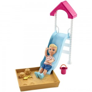 Barbie Skipper Babysitters Inc. Friend Doll and Playground Playset Clearance Sale