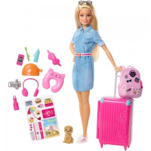 Barbie Travel Doll & Puppy Playset Clearance Sale