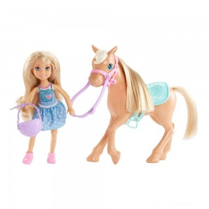 Barbie Chelsea Doll & Pony Playset Clearance Sale