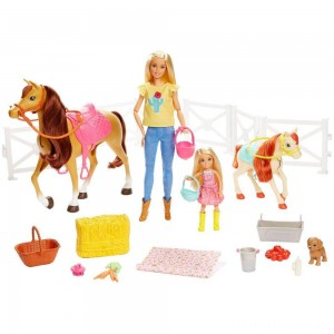 Barbie Hugs 'N' Horses Playset Clearance Sale