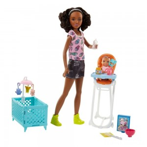 Barbie Skipper Babysitters Inc. Doll and Feeding Playset - Brunette Clearance Sale