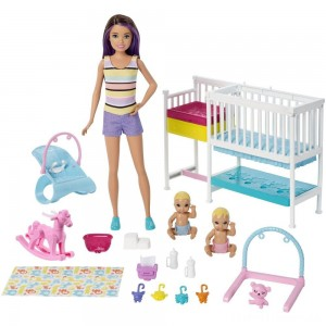 Barbie Skipper Babysitters Inc Nap 'n' Nurture Nursery Dolls and Playset Clearance Sale
